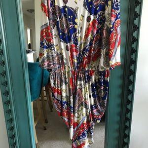 Plus size Baroque Chain Print Dress